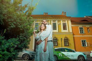 צילומי חתונה על נוף אורבני